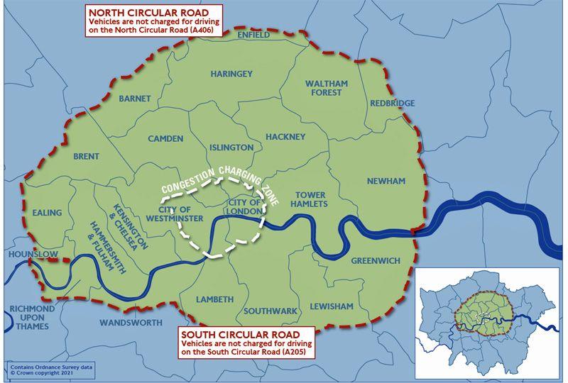 image: UK, London, ULEZ, CO2, NOx, pollution, Sadiq, Khan, HGVs, vans, TfL, transport