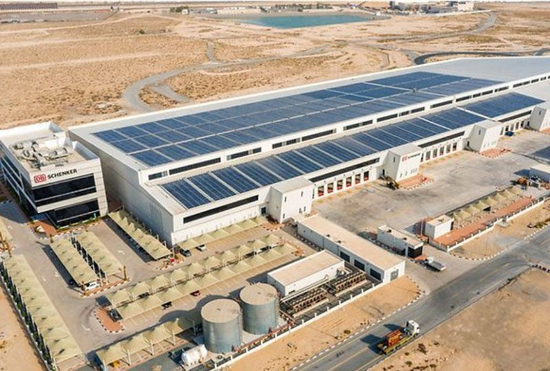 image: Dubai Solar Energy Greener Supply Chain Middle East Logistics Hub